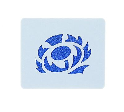 Scottish Rugby Thistle Face Painting Stencil 7cm x 6cm Washable Reusable
