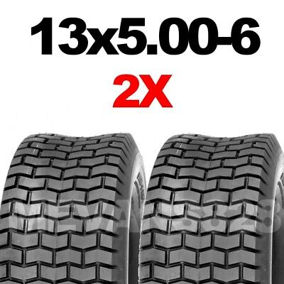 13x5.00-6 Tyres X2 Ride on mower & lawn tractor turf tyres 13 x 500 6  FAST POST
