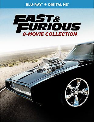 Fast and Furious: 8-Movie Collection (Blu-ray + Digital HD) 2017, 9-Disc Set