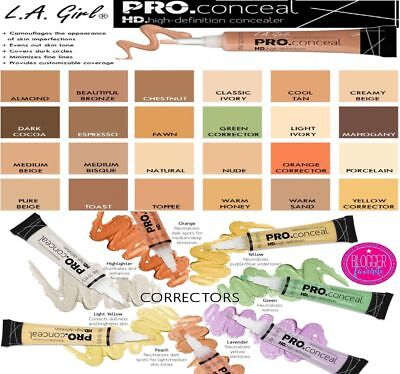 LA Girl PRO CONCEALER HD -100% AUTHENTIC- UK SELLER- 28 SHADES- GRAB YOURS!!!!