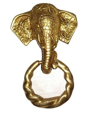 Antique finish Vintage style Brass made ELEPHANT designed DOOR KNOCKER