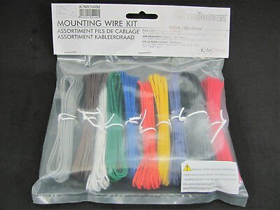 10 Color Mounting/Hookup Wire Kit - 60m - 24AWG Solid Core - Velleman K/MOWM