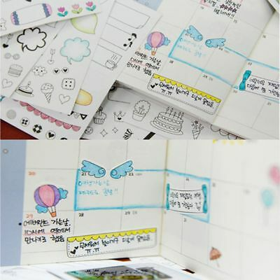 Planner Calendar Kids Decoration Scrapbook Photo Album Diary Paper Sticker
