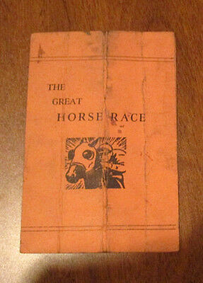 """""""the Great Horse Race"""" - A 2 Page Risque Booklet"""
