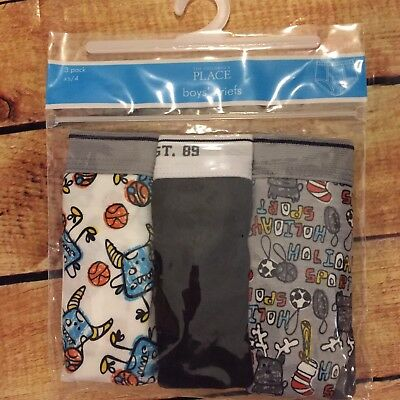 The Children's Place Boys XS Size 4 Sports Basketball Briefs Set/3 Underwear NWT