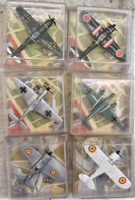 Vintage Collection of Six WW2 Diecast Aircraft by PlayMe Boxed Excellent