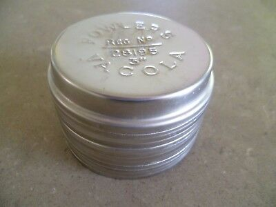 """Dozen Fowlers Vacola STAINLESS STEEL Preserving Jar LIDS Size 3"""" X12"""