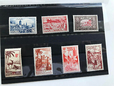 France, Morocco, Maroc, 7 MNH stamps all different, see photo VF