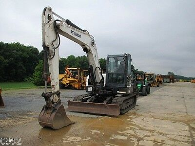 2010 Bobcat E80 Hydraulic Excavator, Full Cab, Air, Heat, Blade, New Tracks
