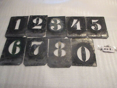 """No--2--NUMBER'S  TIN  Stencil Individual NUMBERS -2 """"  h-LAST  LIFE  TIME"""