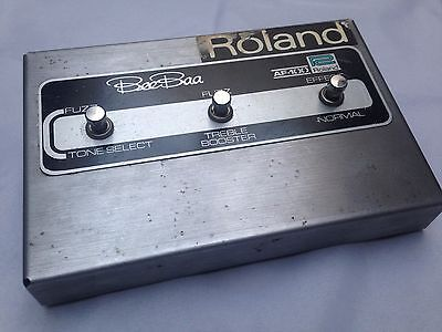 Vintage Roland Af-100 Bee-Baa Fuzz / Treble Booster Rare Effects Pedal 1972
