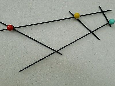 Mid century atomic age wall art /hat rack retro style