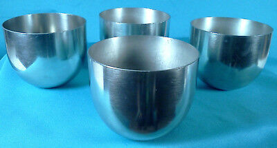 """Vintage KMD Royal Holland Pewter Jefferson Cups Set of Four 2 5/8"""" Tall"""