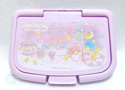 SANRIO Little Twin Stars KAWAII Only Lid of Wet Tissue Can be Used Repeatedly