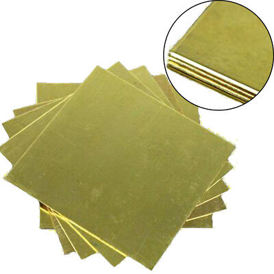 H62 Brass Metal Copper Sheet Plate Block Slice 1.5mm x 100mm x 100mm