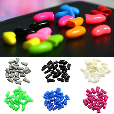 20Pcs Soft Silicone Pet Dog Cat Paw Claw Control Sheath Nail Caps Covers Goodish