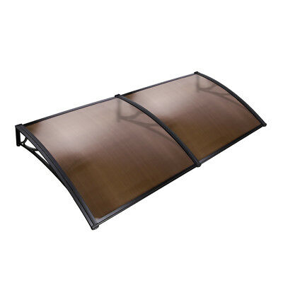 DIY Window Door Awning Cover Brown 100 x 200cm Home Garden Shading