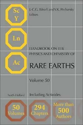NEW Handbook On The Physics And Chemistry Of Rare Earths BOOK (Hardback)