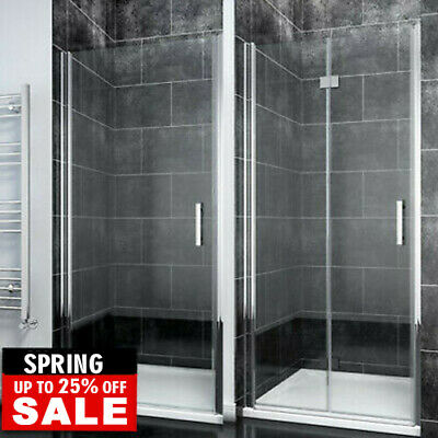 Frameless Pivot/Bifold Shower Enclosure Door Glass Screen Panel 6mm Safe Glass