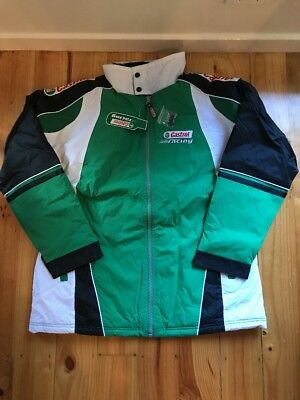 Castrol Racing Jacket Size XL Green / White NWT