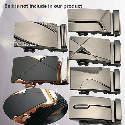 Luxury Leather Men's Automatic Buckles Fashion NO Waist Strap Belt Waistband Jʌ