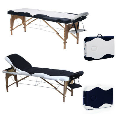 Portable Massage Table Folding Hardwood Beauty Salon Tattoo Therapy Couch Bed UK