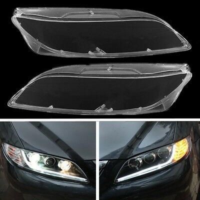 For MAZDA 6  2003-2008 Headlight Head Light Lamp-Outer Cover Lens RIGHT&LEFT AY1