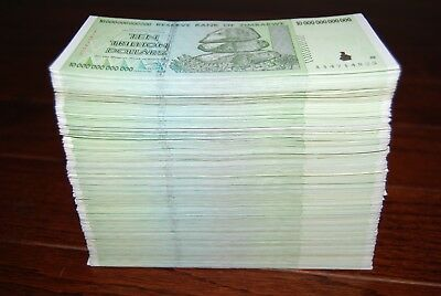 Full Bundle (100 Pcs) Zimbabwe 10 Trillion Dollars | 100% Authentic!