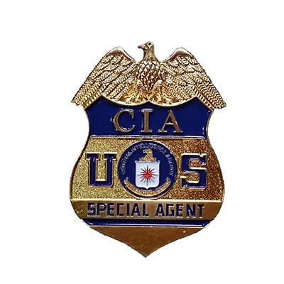 Cosplay US Special Agent Badge CIA Badge Officer Badge Prop Clip Back Full Size