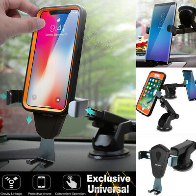 360°Universal Gravity Car Mount Windshield Dash Holder Cradle for Cell Phone GPS