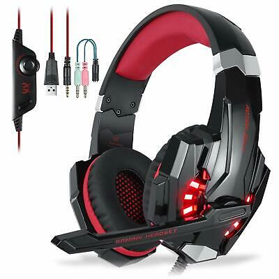 EACH 3.5mm Gaming Headset MIC LED Headphone G9000 For PC Laptop PS4 Xbox One