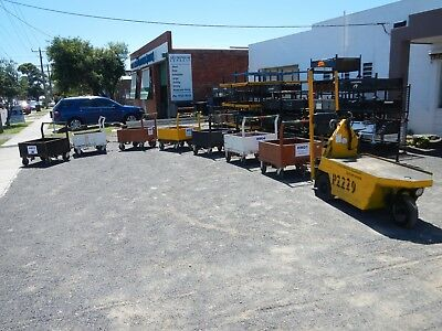 Taylor Dunn Stock Chaser Electric Tug With 7 Tow Trolleys / Trailers / Stillages