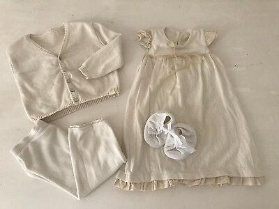 be6adc51a51 NaturaPura Outfit Set Kleid Creme Taufe Festlich Gr.68 74 9 Monate  OrganicCotton