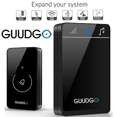 Guudgo Waterproof Wireless Touch Screen Doorbell Portable Door Bell Chime 150M