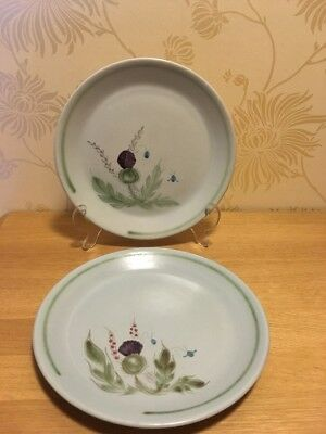 """Buchan Pottery - Thistle - PAIR (2) - 8"""" 20.5 cm Salad Plate - Pattern 289 A/F"""