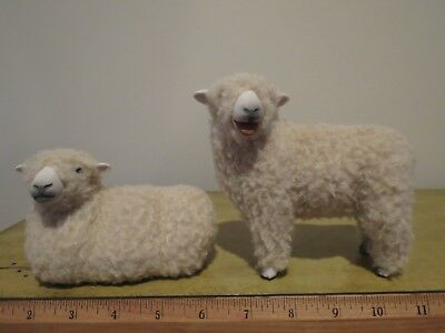 Colin's Creatures - Pair of Matching Sheep Figurines Artist Signed #2