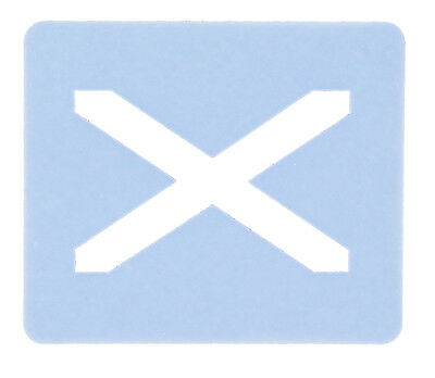 Scottish Rugby Flag St Andrews Cross Face Painting Stencil 7cm x 6cm Reusable