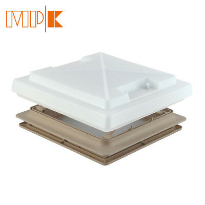MPK Opaque Roof Light With Flynet 280 x 280mm Beige Caravan Motorhome Roof Vent