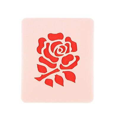 English Rugby Rose Face Painting Stencil 7cm x 6cm Washable Reusable