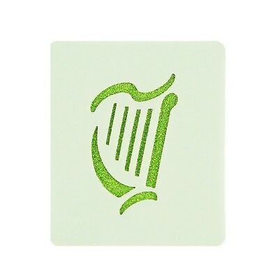 Irish Rugby Harp Face Painting Stencil 7cm x 6cm Washable Reusable