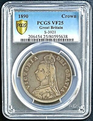 1890 Silver Great Britain Double 2 Florin NGC VF25 Very Fine UK Coin Label Error