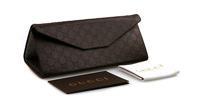Gucci Authentic Brown Embossed Sunglass Small Case Cleaning Cloth