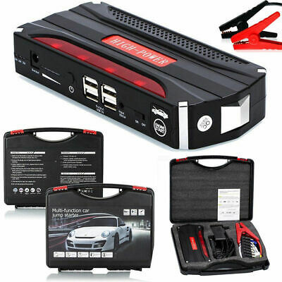 68800mAh 600A Portable Jump Starter Car Emergency LED Power Bank Charger Booster
