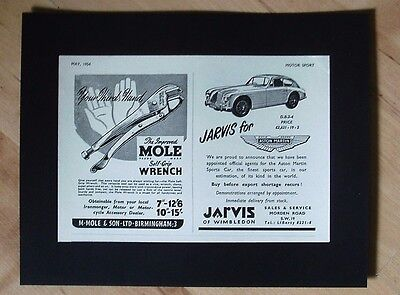 Aston Martin And Mole Wrench Combined Original Vintage Advert May 1954