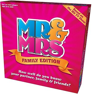 Mr and Mrs Family Edition Box Game Played Adult Couples Families Boys Girls