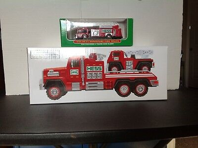 Hess 2015 Fire Truck and Ladder Rescue. .FREE SHIPPING!!