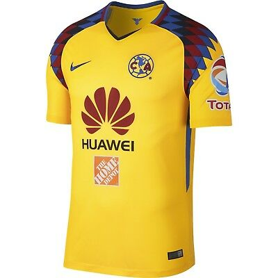 45a9a1df27a Nike Club America DF 2017 - 2018 Third Soccer Jersey New Yellow   Navy   Multi