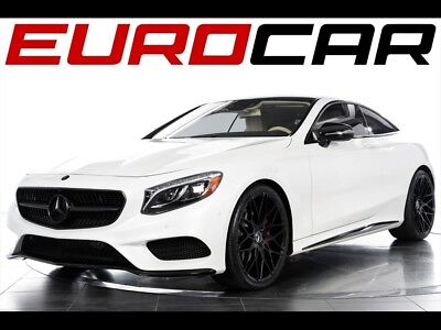 2015 Mercedes-Benz S-Class S550 4MATIC Coupe 2015 Mercedes-Benz S550 Coupe - WHITE OVER PORCELAIN, BLACKED-OUT EXTERIOR TRIM!