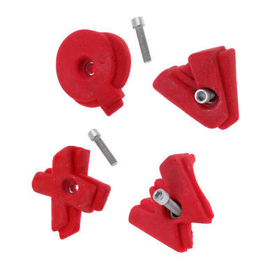 Replacement Large Rock Wall Climbing Holds with Screws - X Q W V Shaped