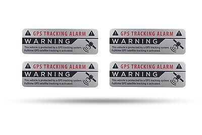 4 X Gps Aufkleber Silber Auto Alarmanlage Anti Theft Stickers Car Alarm System